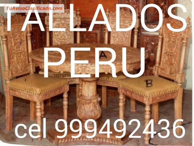 Especialista diseñador fabricante de muebles TALLADOS PERUANOS exc...