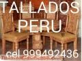 Especialista diseñador fabricante de muebles TALLADOS PERUANOS exclusivos